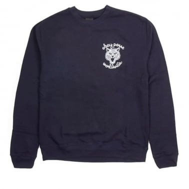Obey Be All End All Crewneck Sweatshirt - Navy