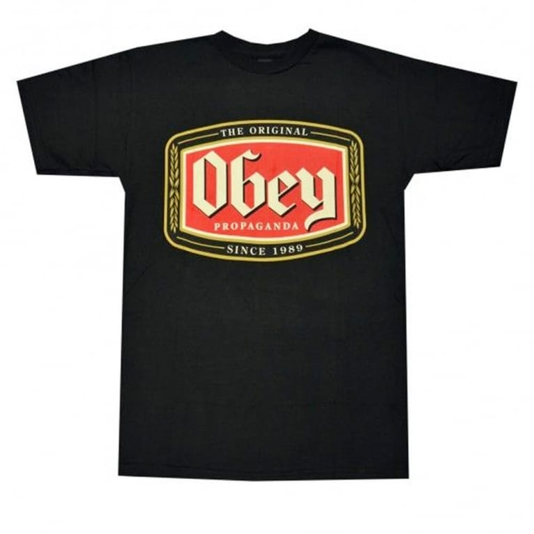 Obey Origin Lager Tee Black