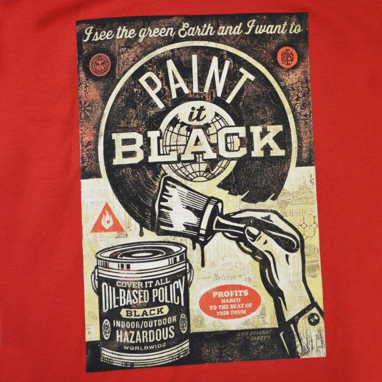 Obey Paint It Black Art Tee - Red