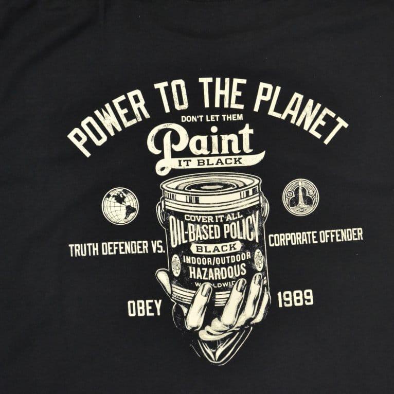 Obey Paint It Black Tee - Black