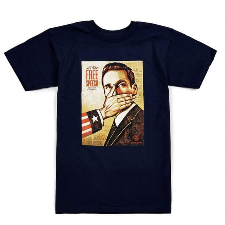 Obey Pay Up or Shut Up! Tee - Navy