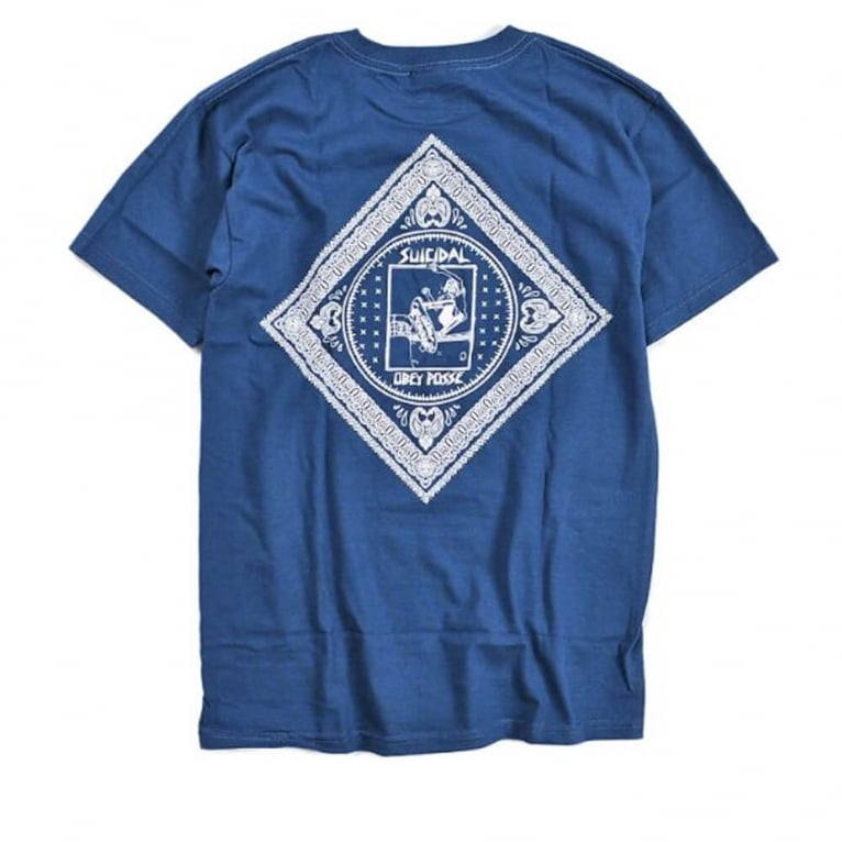 Obey Pool Bandana Tee Patrol Blue