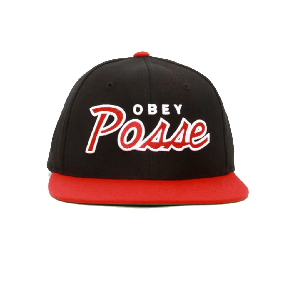 Obey Posse Snap Black Red  97ed2e30a311