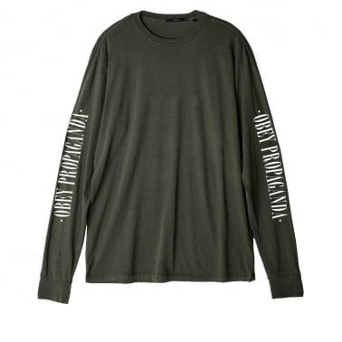 Propaganda Long Sleeve T-shirt - Light Army