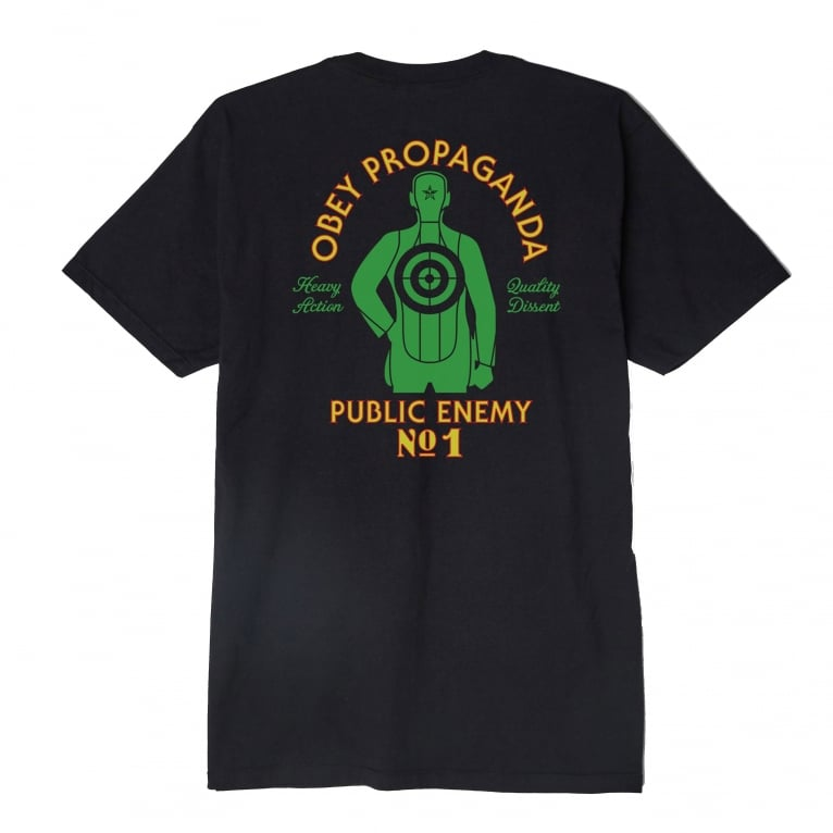 Obey Public Enemy NO.1 T-Shirt - Black