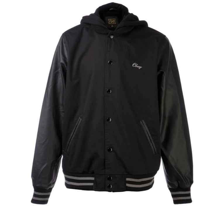Obey Rival Jacket Black/Grey