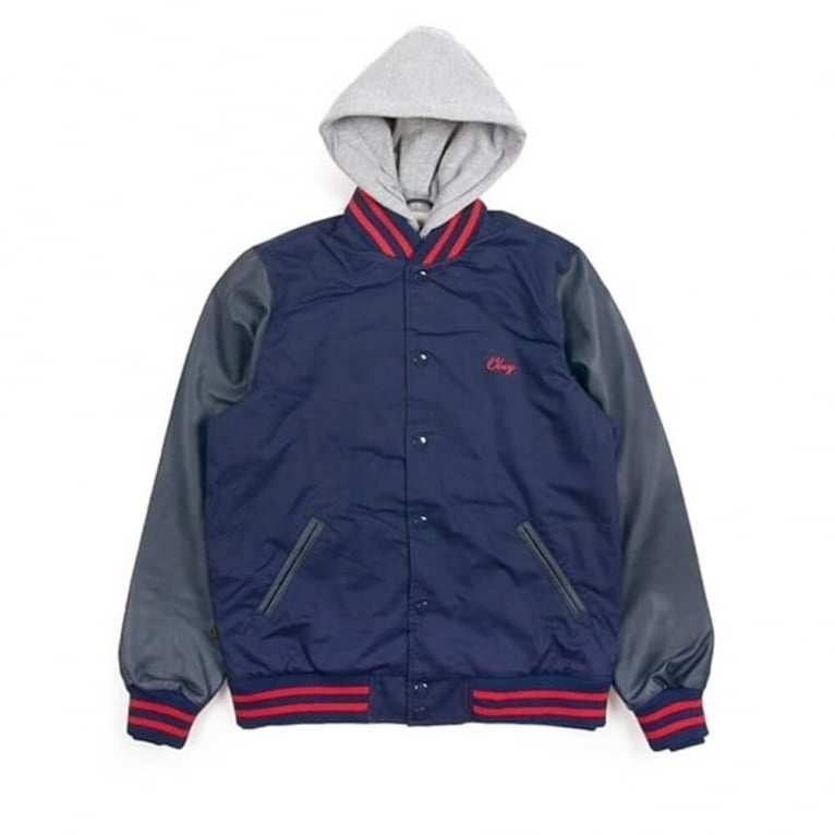 Obey Rival Jacket Navy/Red