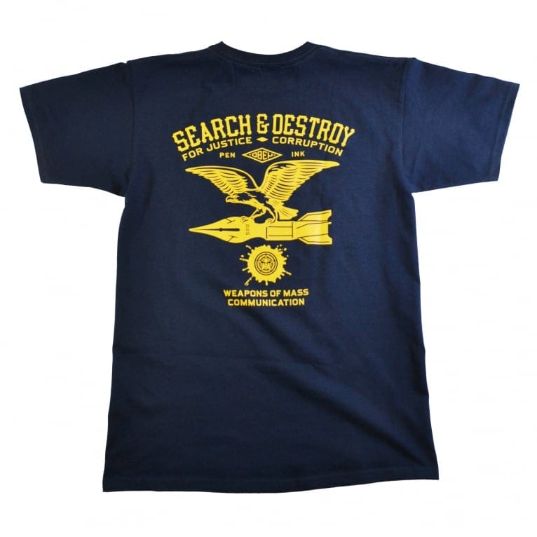 Obey Search And Destroy Eagle Basic T-Shirt - Navy