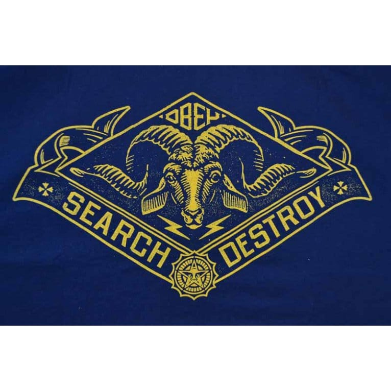 Obey Search Goat Tee Navy