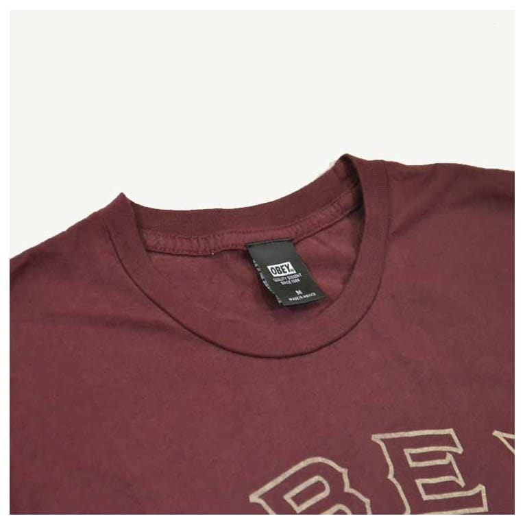 Obey Search Tee Burgundy
