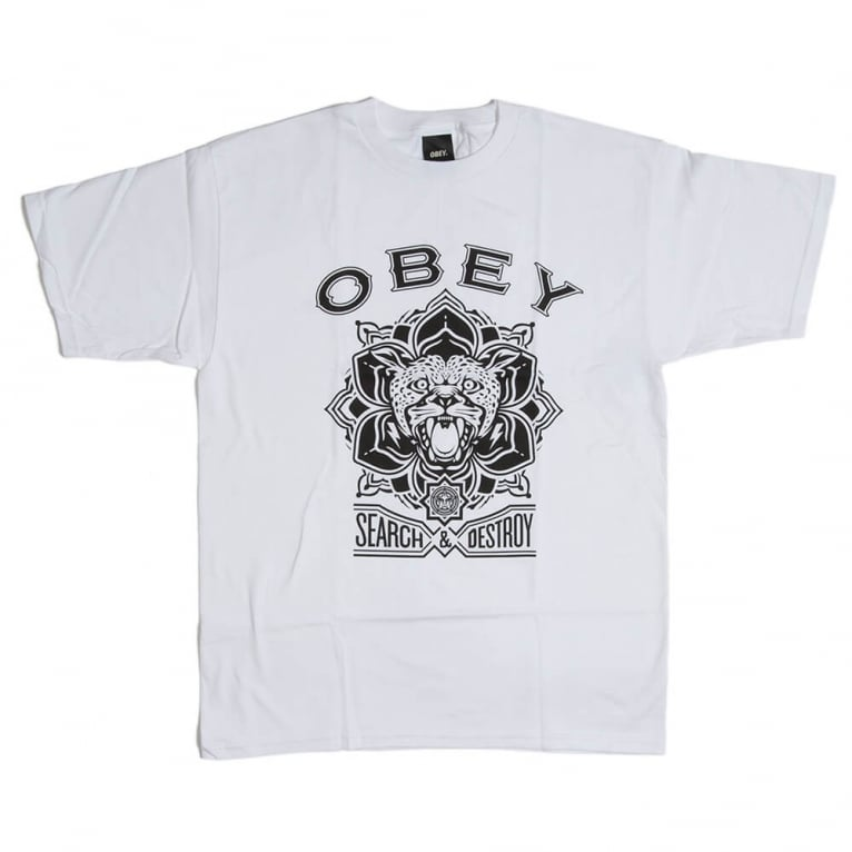 Obey Search Tee White