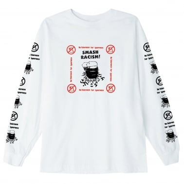 Smash Racism Long Sleeve T-Shirt - White