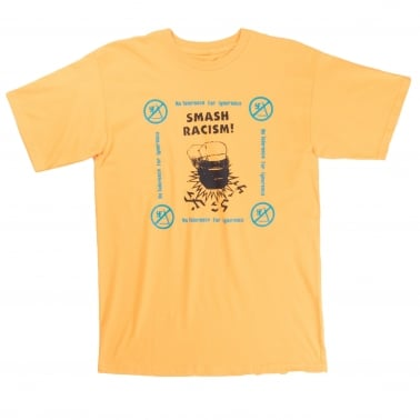Smash Racism T-Shirt - Gold