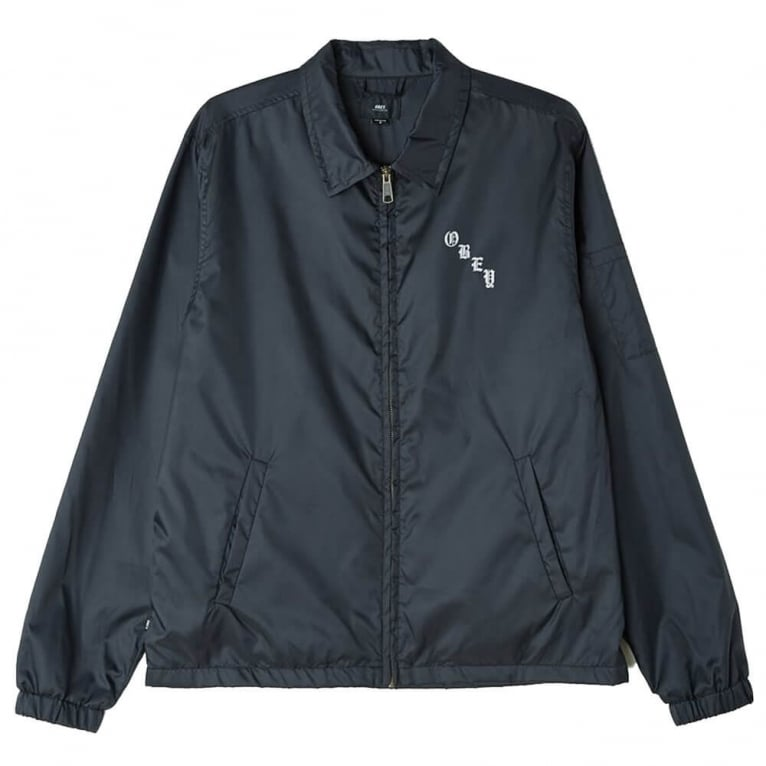 Obey Spider Rose Graphic Jacket - Black