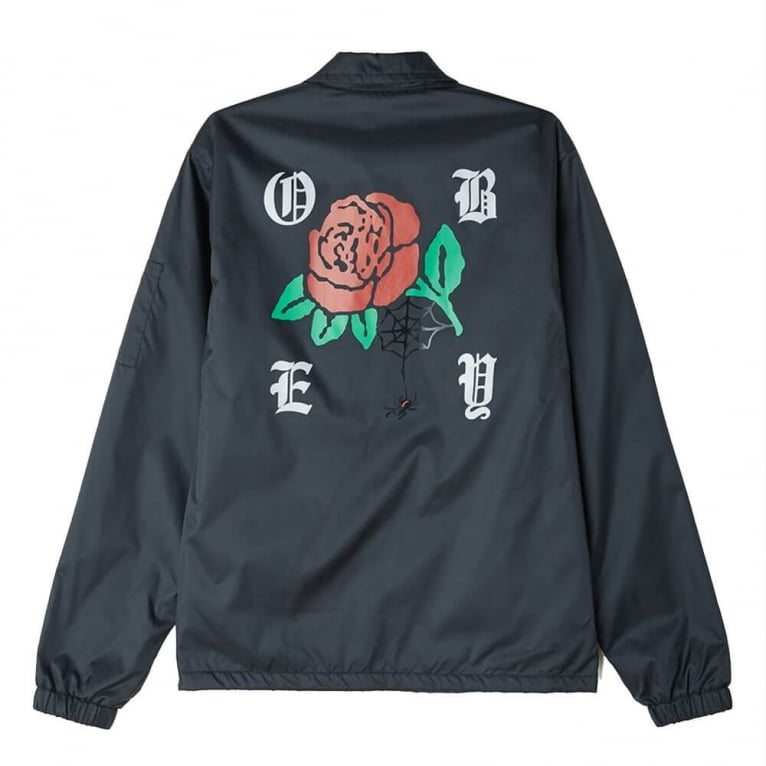Obey Spider Rose Graphic Jacket - Black