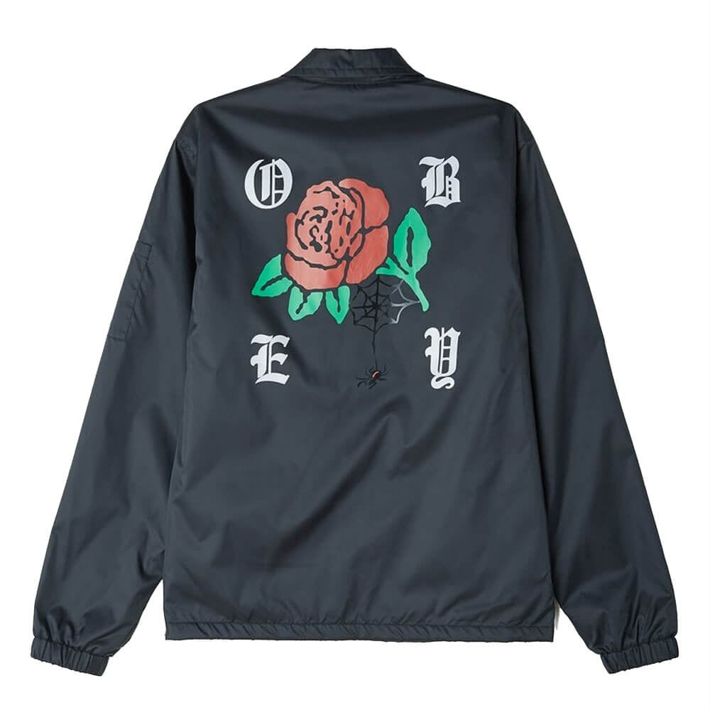 Obey Mens Spider Rose Graphic Jacket