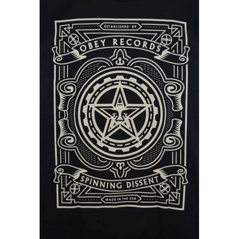 Obey Spin Dissent Tee Black