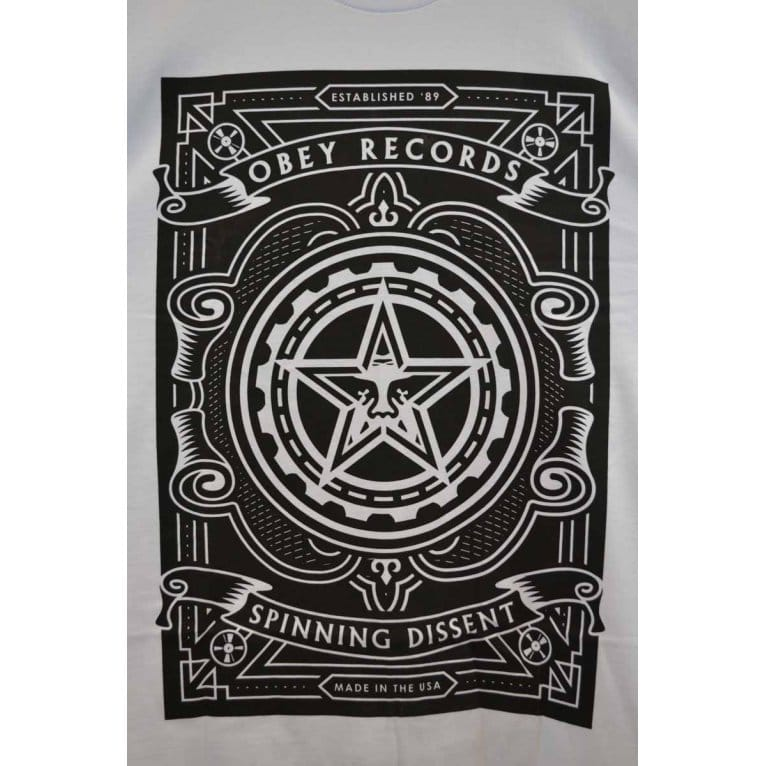 Obey Spin Dissent Tee White