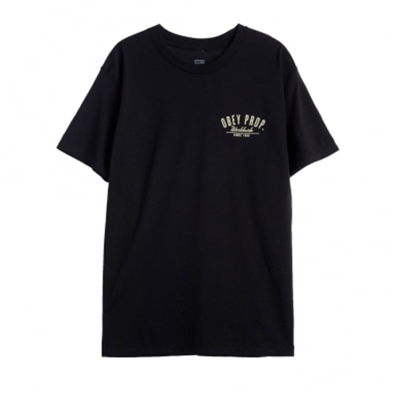 Obey Stacks Tee Black