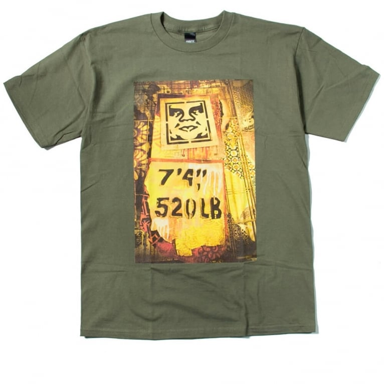 Obey Stencil Rack Tee Olive