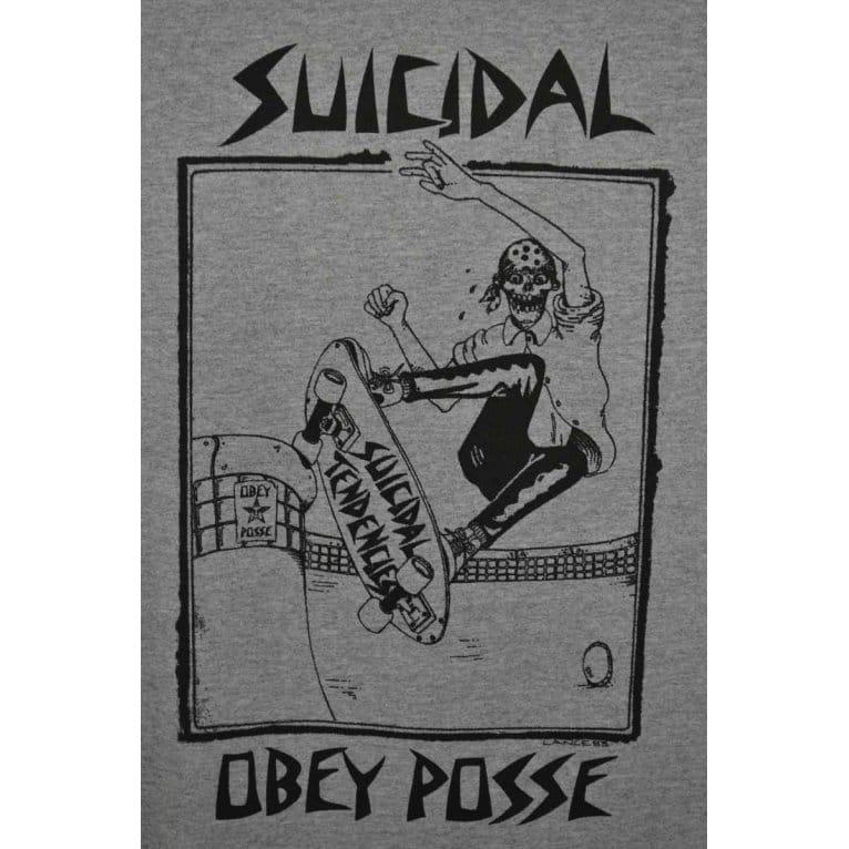 Obey Suicidal Tendencies Pool 3/4 Tee Heather/Navy