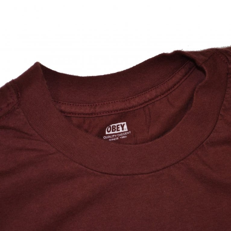 Obey Switch Skull Tee - Burgundy