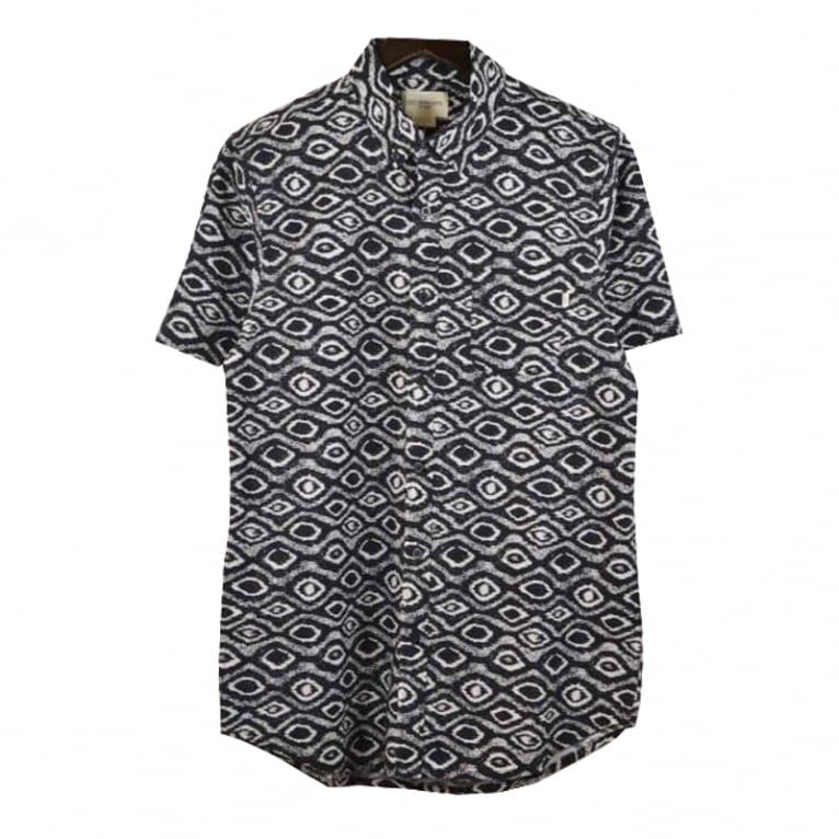 Obey Temple Short Sleeved Shirt Indigo