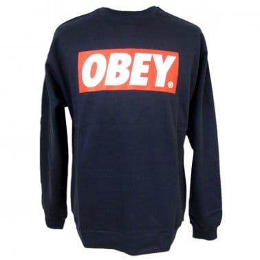 The Box Crew Sweatshirt - Dark Denim