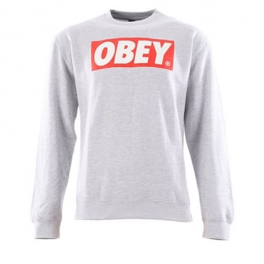 The Box Crewneck Sweatshirt - Heather Grey