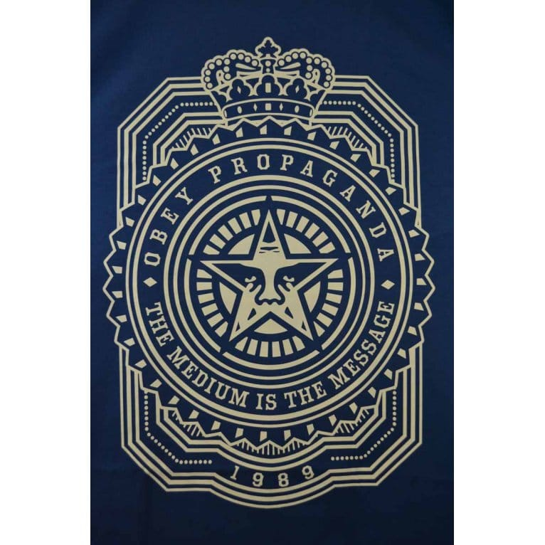 Obey The Message Tee Patrol Blue