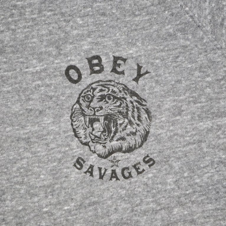 Obey Tiger Crew - Heather Grey