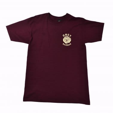 Tiger Savages Tee - Burgundy