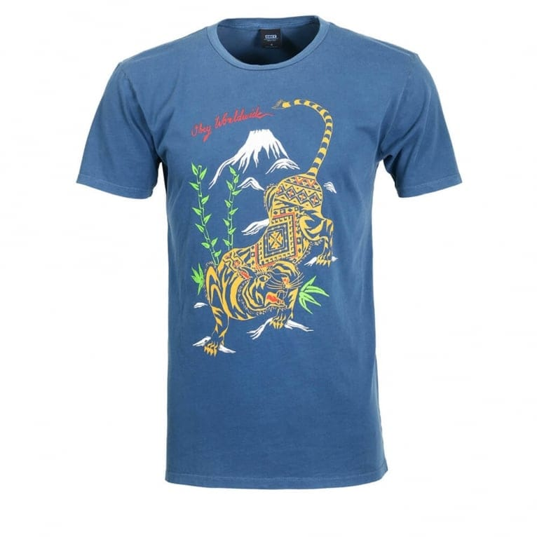 Obey Tiger Style T-shirt - Dark Denim