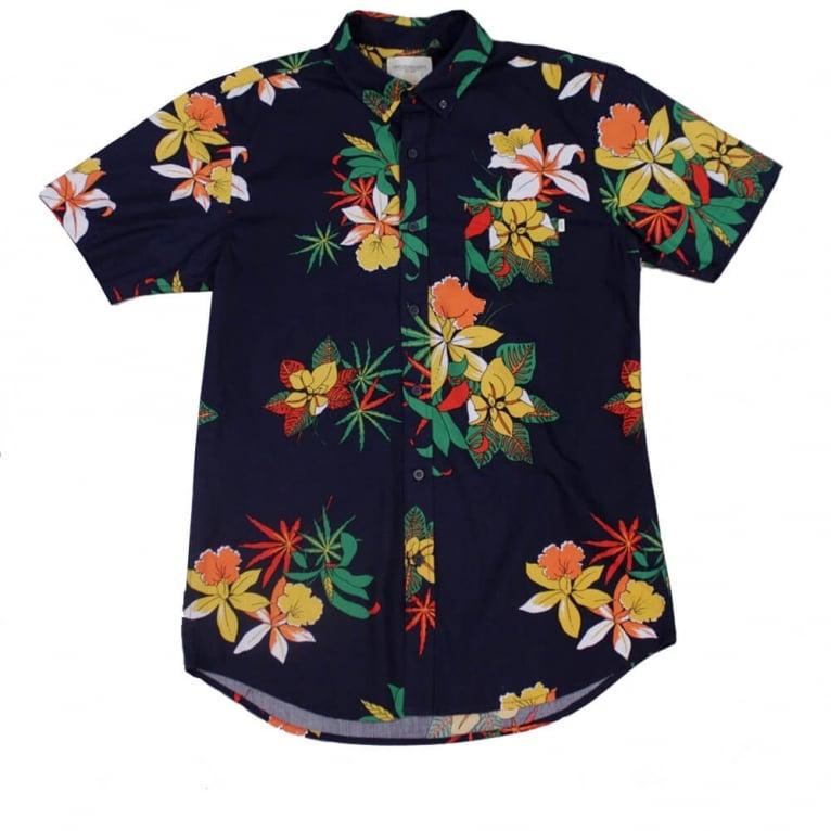 Obey Tourist Short Sleeved Shirt Black