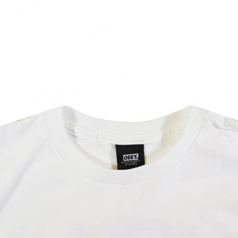 Obey Trouble Breathing Basic T-Shirt - White