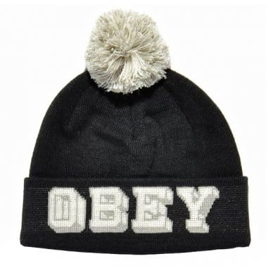 University Pom Beanie - Black