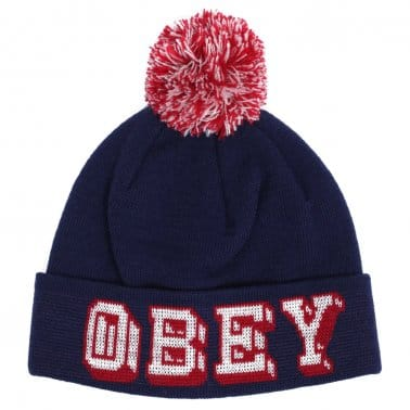 University Pom Beanie - Navy