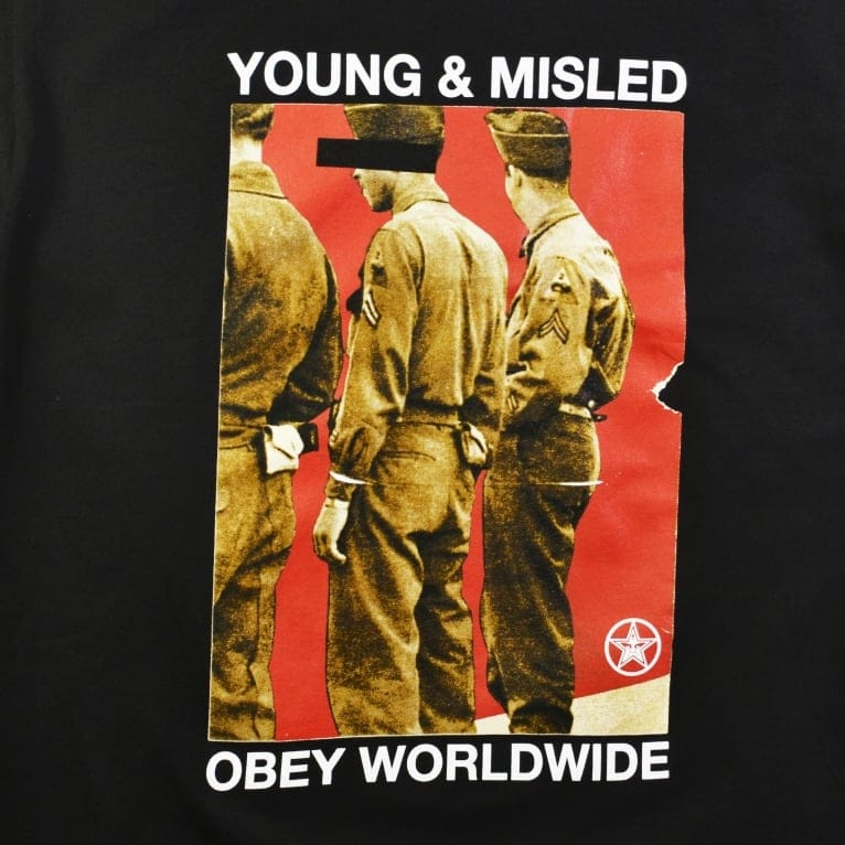 Obey Young & Misled T-Shirt - Black
