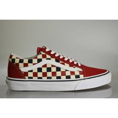 Old Skool Coast Red/Blue/check