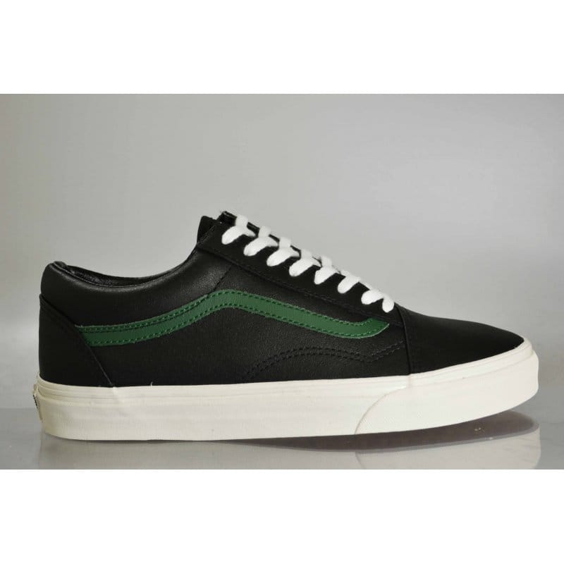 c3b1d022a1 Vans Old Skool Leather Black Green