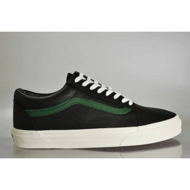 Old Skool Leather Black/Green