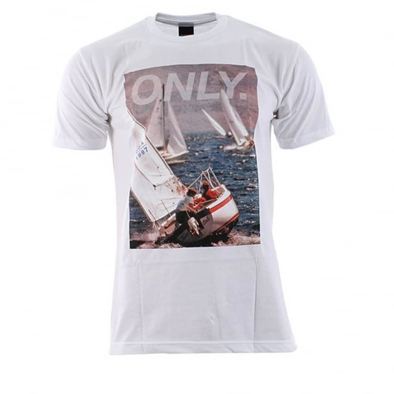 Only NY Sailing Photo Tee White