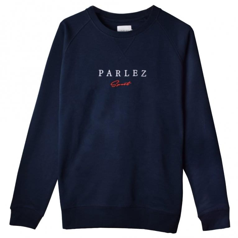 Parlez Sport Script Sweat - Navy