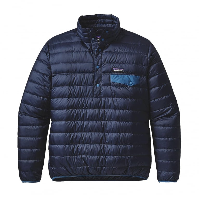 Patagonia Down Snap Pullover Jacket - Navy Blue