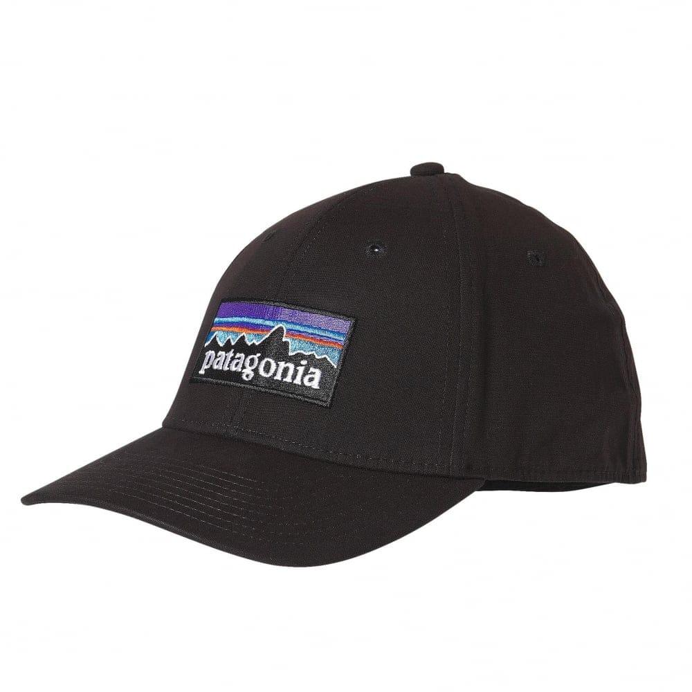 cfc08596 Patagonia p6 stretch cap black   Accessories   Natterjacks