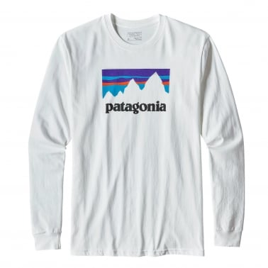 Shop Sticker Long Sleeve T- Shirt - White