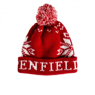 Dumont Beanie - Red/White