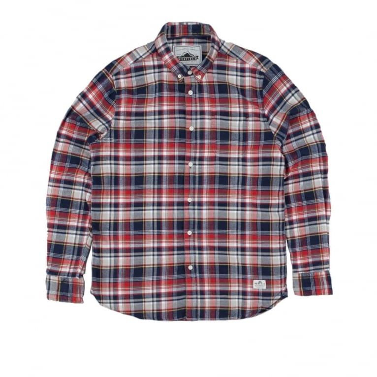 Penfield Jansen Shirt - Navy Plaid