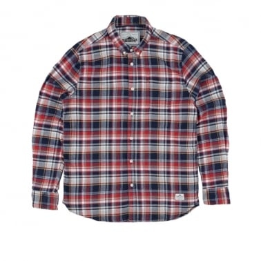 Jansen Shirt - Navy Plaid