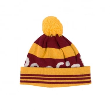 Sanford Beanie - Burgundy/Yellow